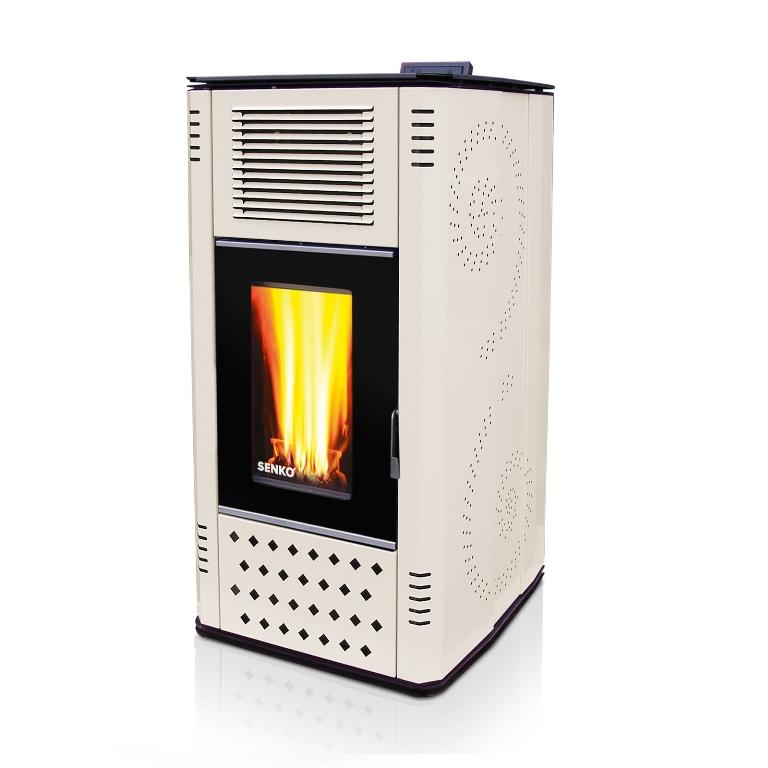 Pellet Stove for central heating P 12 WATER+AIR MODERN ...